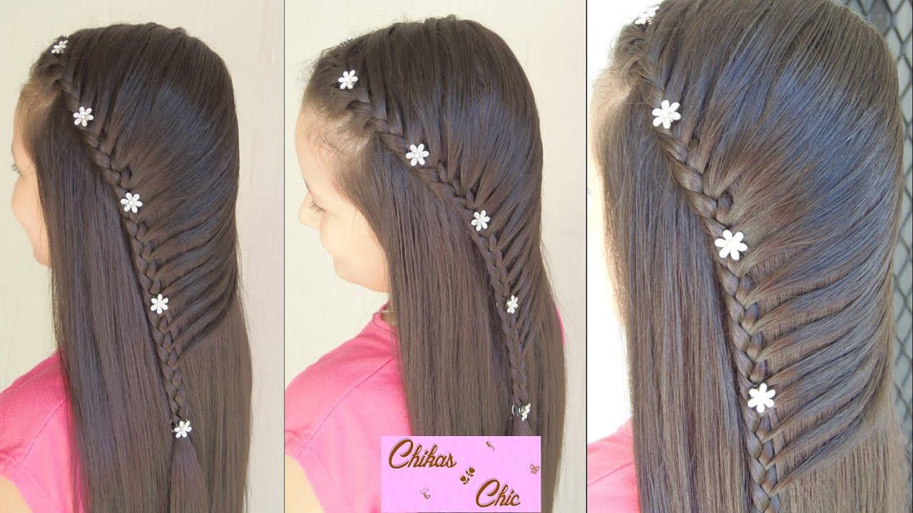 Peinado para Fiestas Trenza Cosida Peinado Elegante YouTube