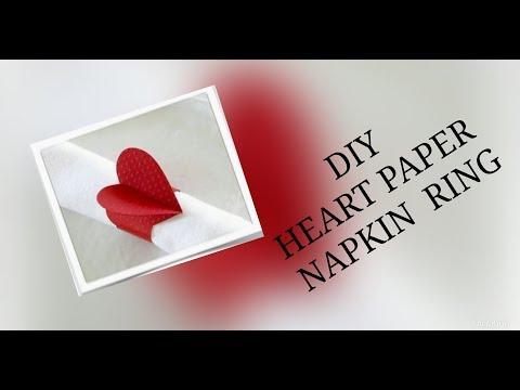 DIY Heart Paper Napkin Ring