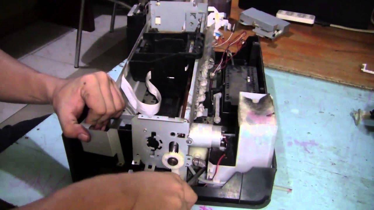 disassembling epson stylus photo p60 t60 belt board sensor and rh youtube com