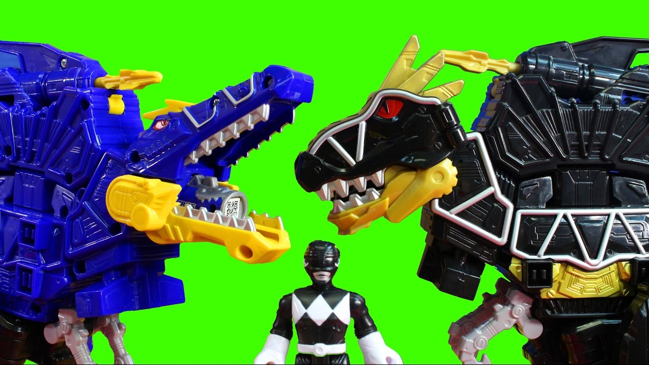 power rangers dino super charge deluxe black t rex zord practice battles against spino zord. Black Bedroom Furniture Sets. Home Design Ideas