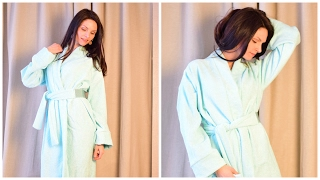 DIY Home bathrobe without a pattern, quickly and easily! Video tutorial.