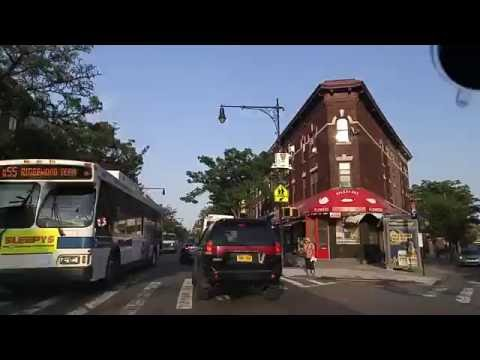 Driving by Ridgewood in Queens,New York