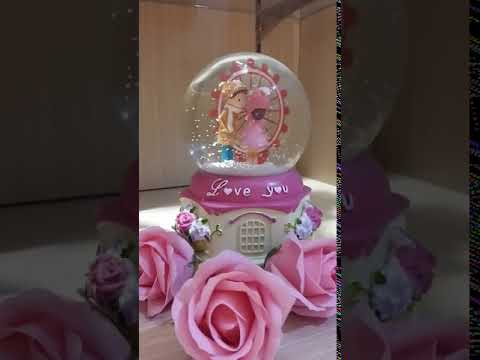 Valentine's Day Rotating Snow Globe - snjgift