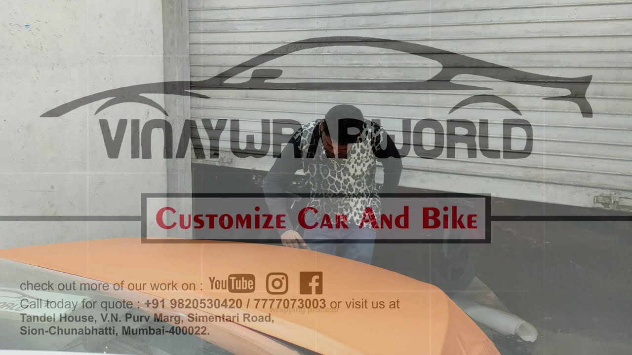 Chevrolet Cruze Wrap In Matte Orange Car Wrapping In India Youtube
