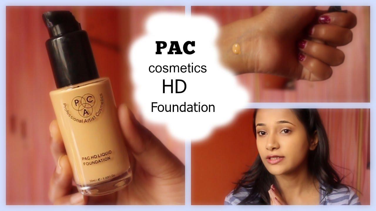 Pac Cosmetics Hd Foundation Review Youtube