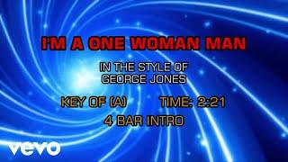 George Jones - I'm A One Woman Man (Karaoke)