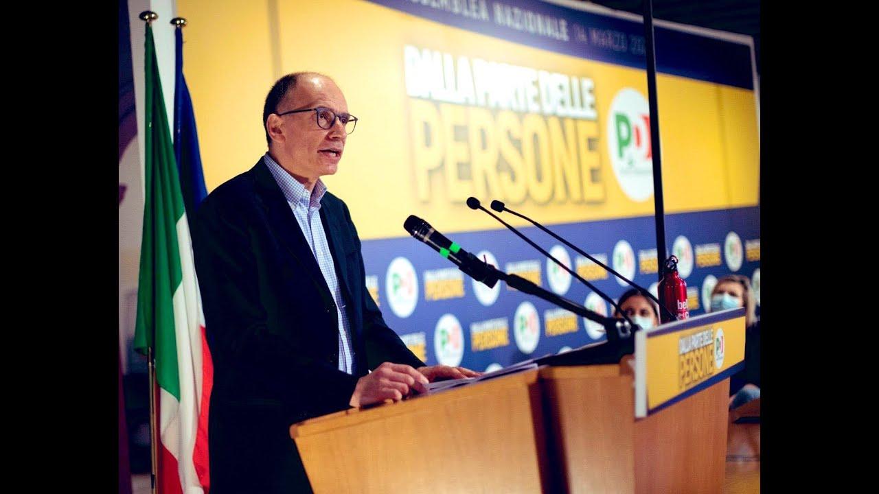L'intervento di Enrico Letta di presentazione della candidatura