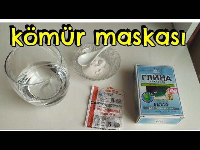 Yagli Deriler Ucun Aktiv Komur Maskasi Qara Maska Yagli Ve Gozenekli Cilt Icin Siyah Maske Youtube