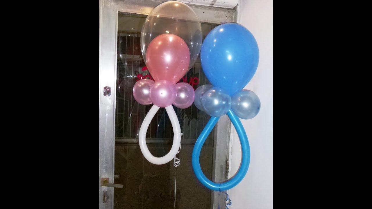 baby shower diferentes chupones o chupetes curso de decoracin con globos youtube