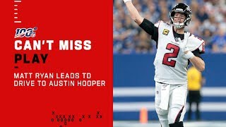 Matt Ryan Leads the Falcons Downfield for an Austin Hooper TD