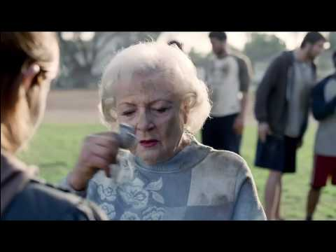 Snickers Super bowl XLIV 2010 Commercial with Betty White and Abe Vigoda