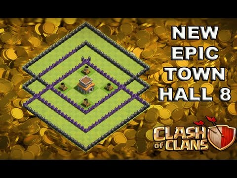 NEW EPIC TOWN HALL 8 (TH8) TROPHY BASE DEFENSE! 2016/ BEST LAYOUT DEFENSE STRATEGY