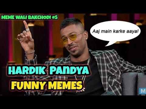 HARDIK PANDYA AND KL RAHUL KOFFEE WITH KARAN || HARDIK PANDYA FUNNY MEMES || MEME WALI BAKCHODI #5