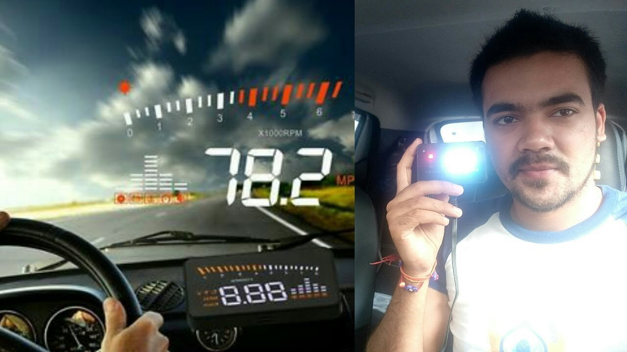 Head up display HUD OBD2 car accessorie unboxing & review