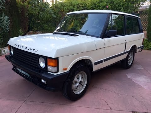 1990 range rover classic 2 5d 2 door in chamonix white. Black Bedroom Furniture Sets. Home Design Ideas