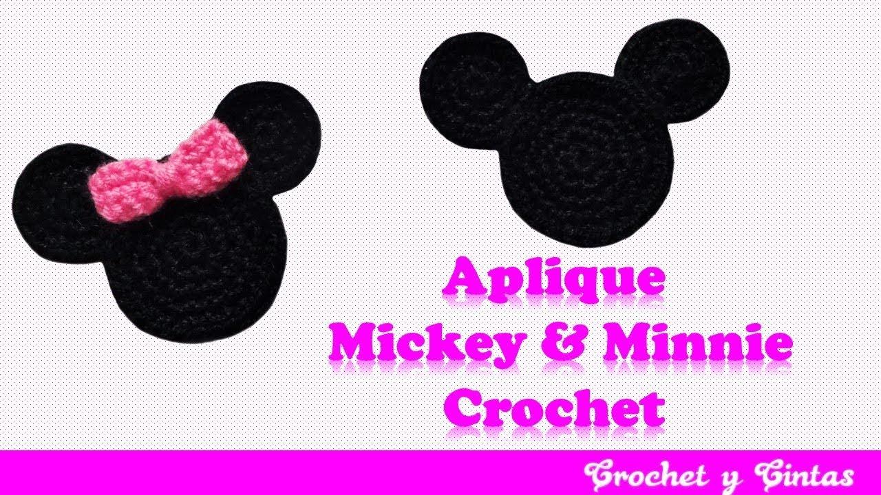 Mickey y Minnie Mouse tejido a crochet (ganchillo) - YouTube