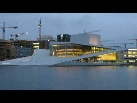The Opera House at night - Oslo, Norway