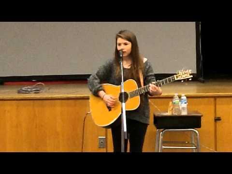 Hayley Reardon performs at Big Rapids Middle School
