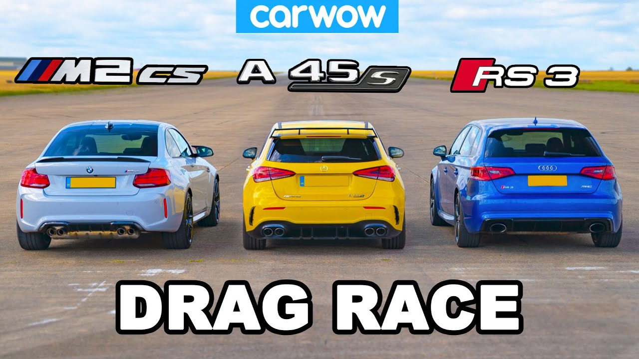 New Bmw M2 Cs Vs Amg A45 S Vs Audi Rs3 Drag Race Youtube