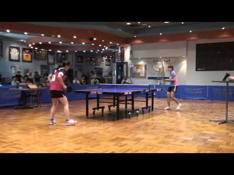 Mounties Invitational 2013 - Women SF: Lee Hyun Ju (KRA-Korea) vs Ding Yaping (CHN) Set 1