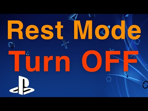 PS4 How to TURN OFF Rest Mode!