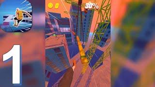 Rooftop Run - Gameplay Walkthrough Part 1 Levels 1-10 (Android, iOS) screenshot 2