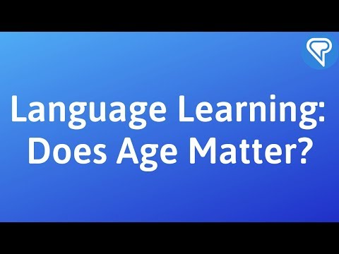 Age and language learning