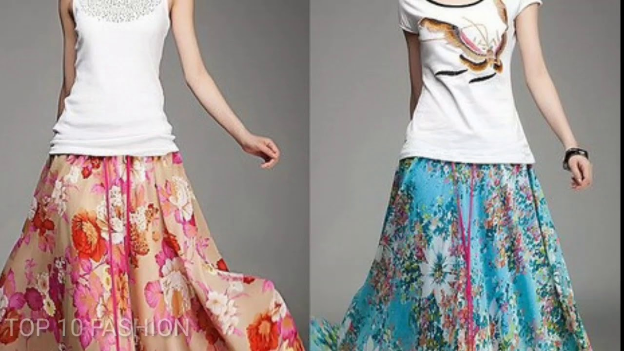 silk skirts dresses designs girls latest long hot skirt