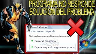 SOLUCION EN WINDOWS El Programa No Responde