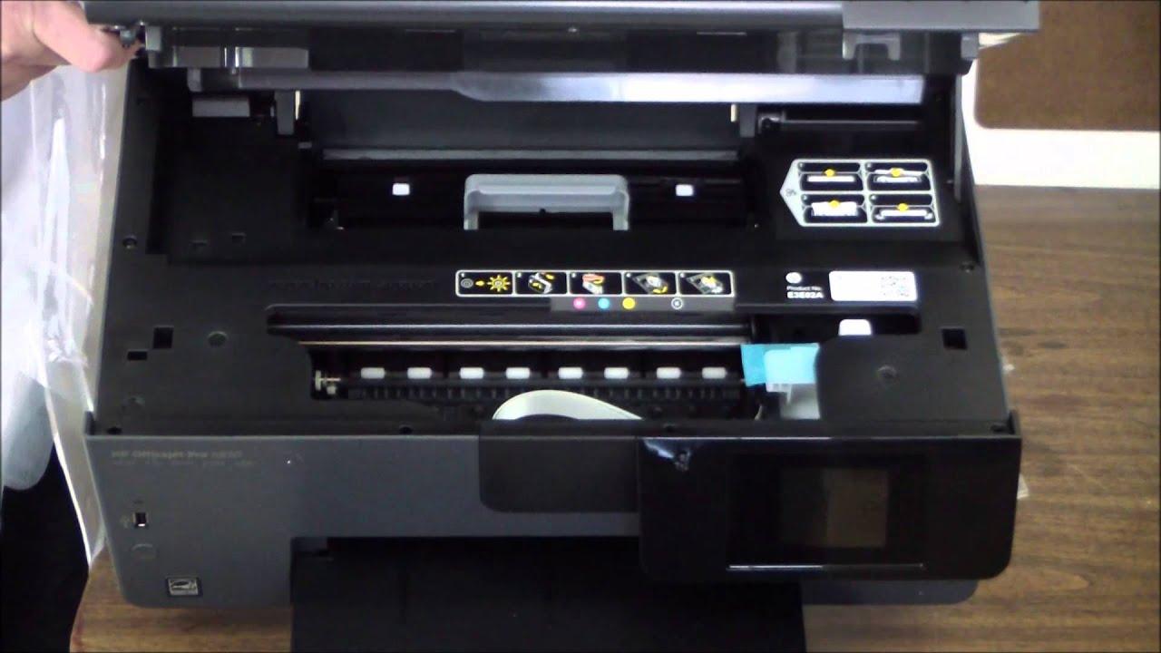 Hp Officejet Pro 6830 Unboxing Amp Setup Youtube