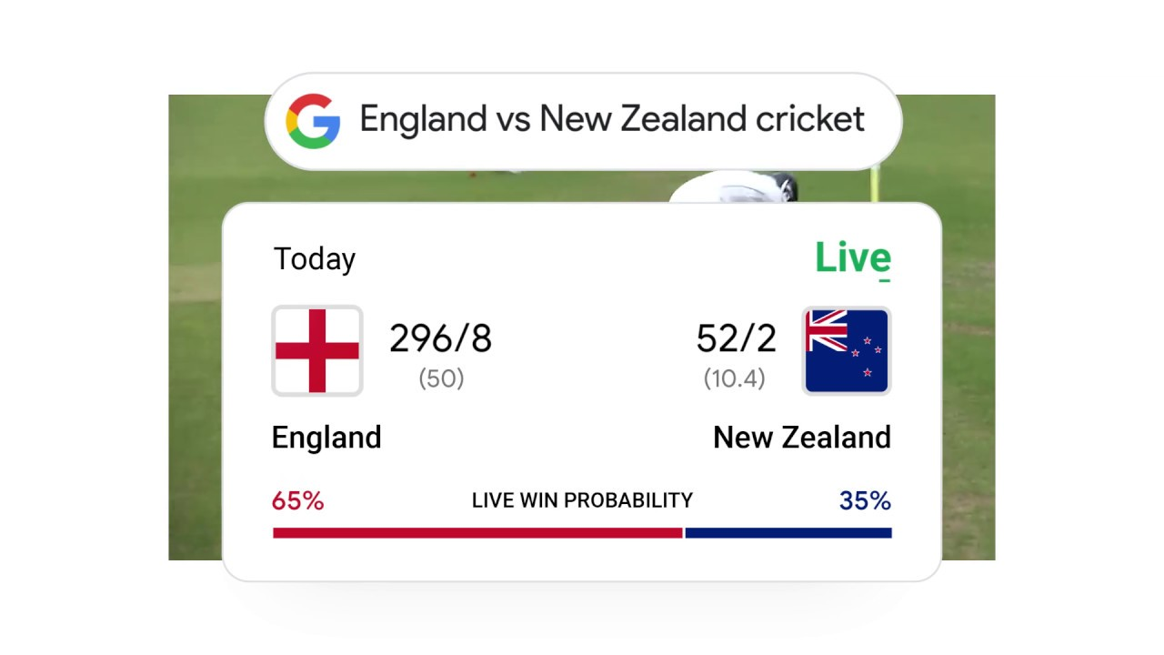 Cricket: Live scores & live win probability