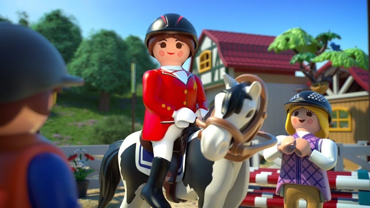 Playmobil granja de caballos la pel cula youtube for La granja de playmobil precio