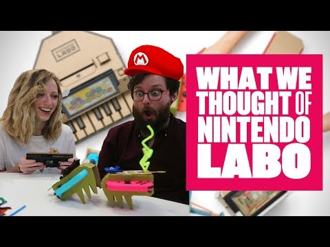 We played Nintendo Labo - CARDBOARD ROBOT FIGHT
