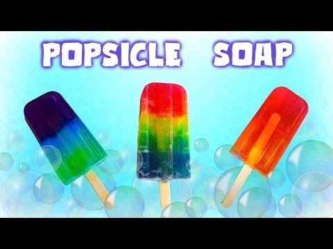 DIY Rainbow Popsicle Soap // How to make unicorn popsicle soap // Easy Melt and Pour Soap DIY