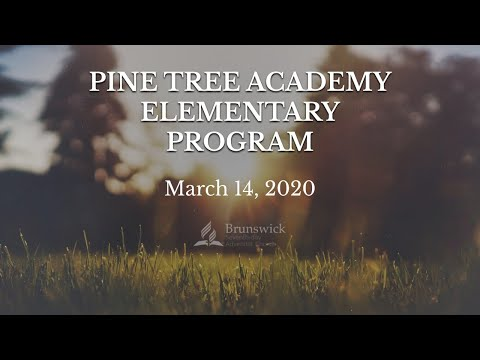 March 14, 2020 - VIRTUAL- Pine Tree Academy Elementary Program