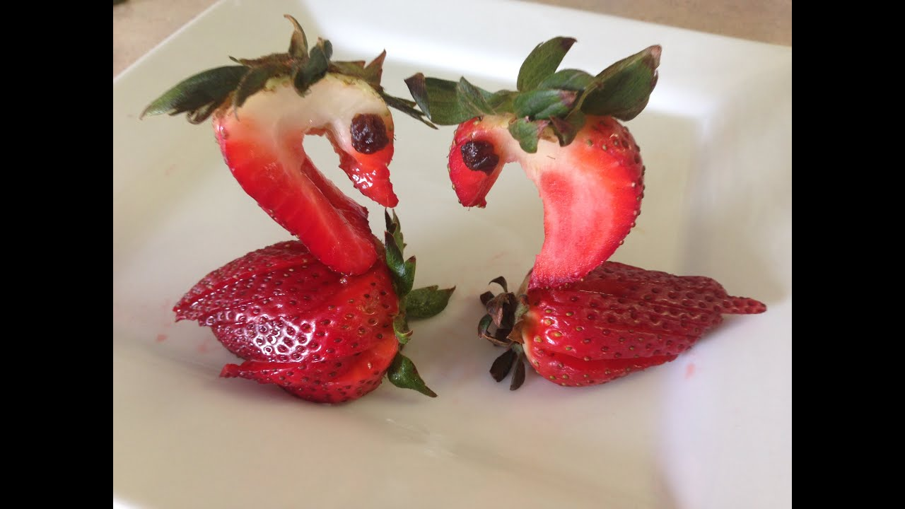 Como hacer Fresas en forma de Cisne o Ganso, Art in Strawberry Swan ...