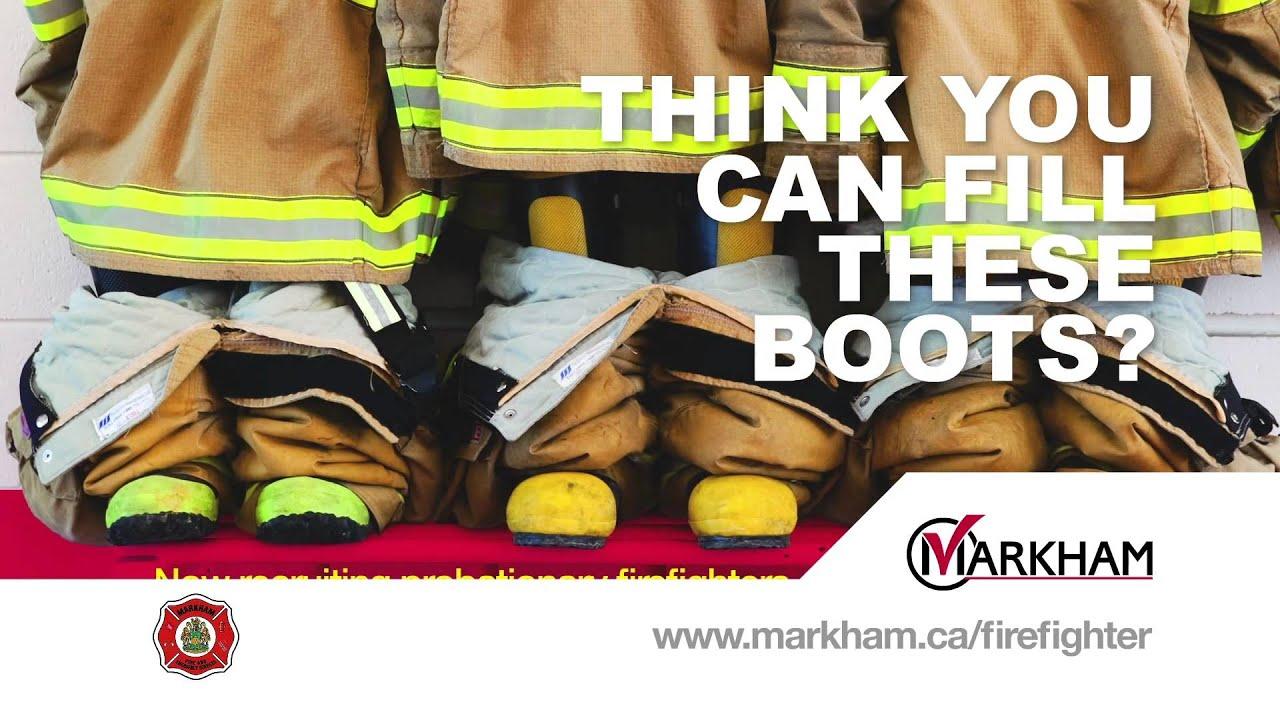 City of Markham Firefighter Recruitment Cinema Advertising
