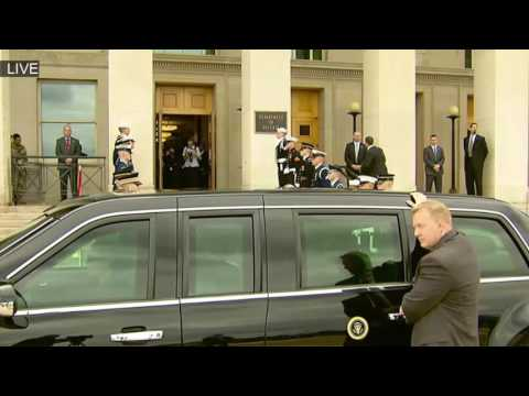 WOW! President Donald Trump Arriving at The Pentagon MUST WATCH ✔ President Trump Motorcade