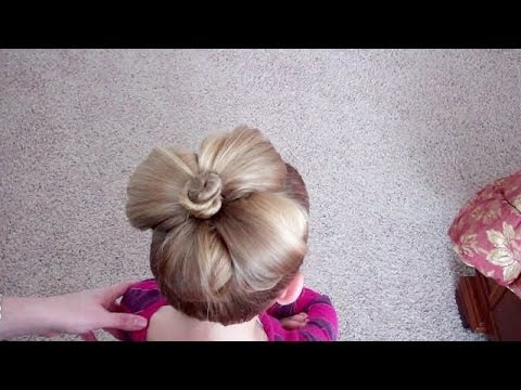 How To Do A Flower Bun Easter Hairstyle Pretty Hair Is Fun Youtube