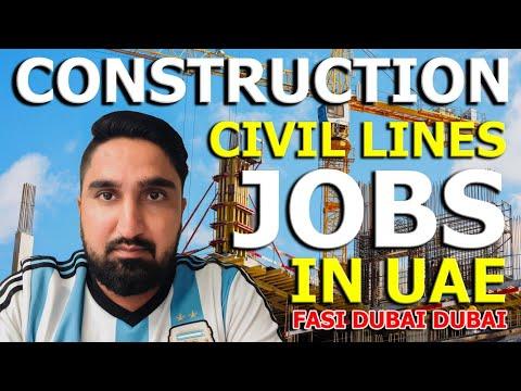 DUBAI CONSTRUCTION JOBS | DUBAI LATEST JOB ♨️🏪
