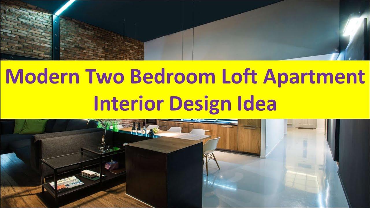 Modern Two Bedroom Loft Apartment Interior Design Idea - YouTube