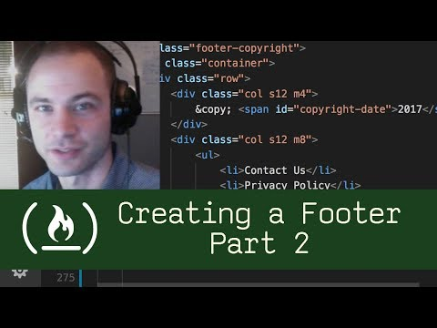 Creating a Footer Part 2  (P3D7) - Live Coding with Jesse