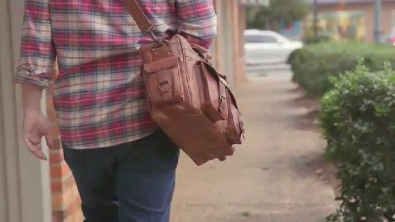 128f0fe20589 Everett Pilot Briefcase Leather Bag - Two Pocket Leather - YouTube