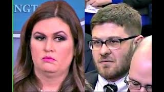 Sarah 'Huckabee' Sanders BUSTED when asked about Obama & Trump's accomplishments