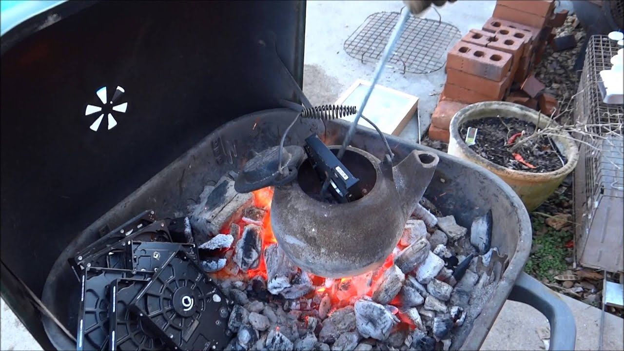 casting aluminum in green sand at home youtube