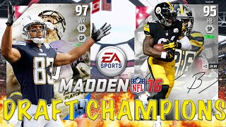 I Have The Best Draft Luck!!! - Madden 16 Draft Champions