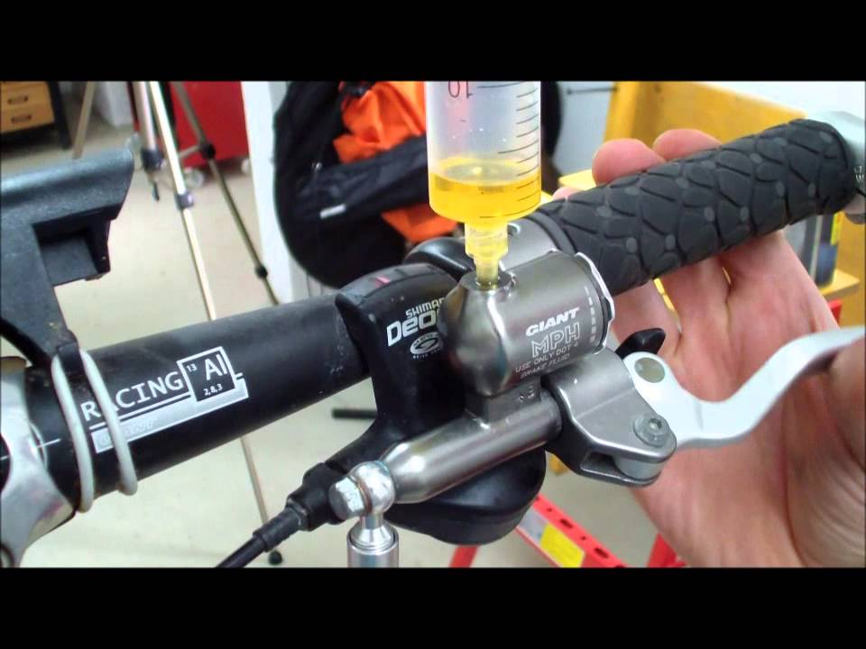 how to replace the brake fluid in hydraulic bicycle disc brakes tutorial 002 youtube. Black Bedroom Furniture Sets. Home Design Ideas