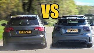 Audi RS3 vs Mercedes A45 AMG - SOUND BATTLE!