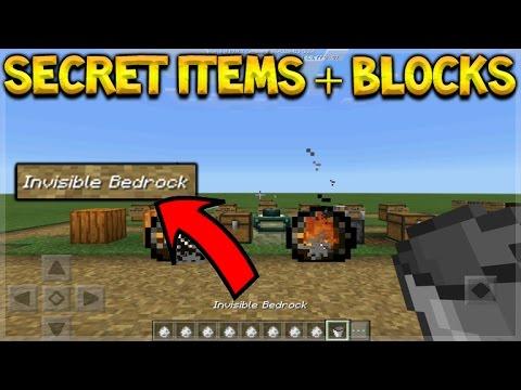 Cool Secrets Minecraft Pocket Edition Secret Items Blocks Entities Commands Pocket Edition Youtube