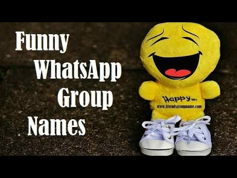 Funny WhatsApp Group Names😀😀